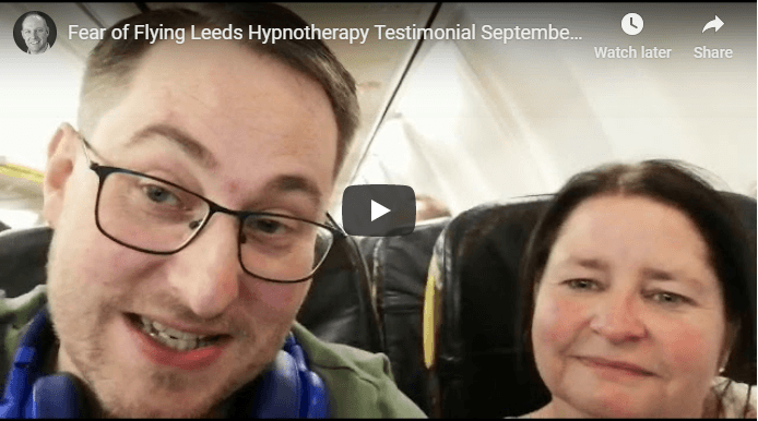 Fear of flying hypnotherapy testimonial leeds video image